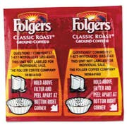 Folgers Coffee, Classic Roast Regular, 9/10oz Vacket Pack, 42/Carton