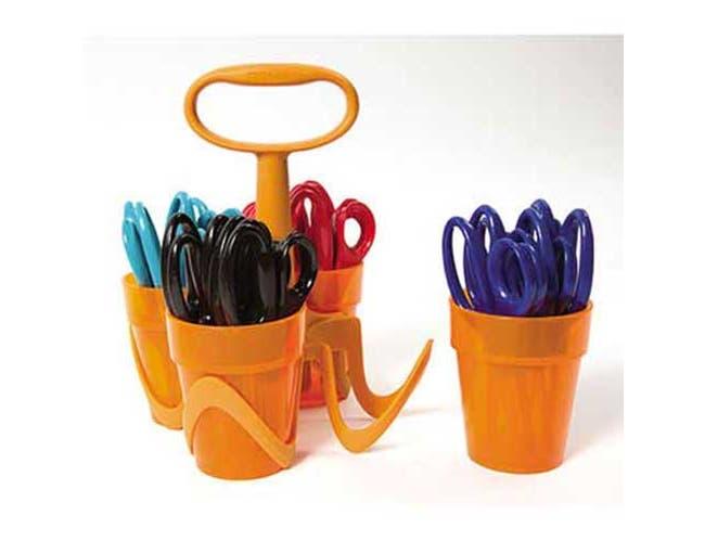 Fiskars Scissors, 5 inch Length, 1 3/5 inch Cut, Classpack, Blunt Tip, Assorted