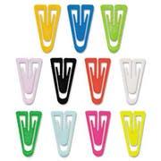 Advantus Paper Clips, Plastic, Medium Size, Assorted Colors, 500/Box