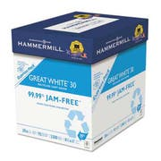 Hammermill Great White Recycled Copy Paper, 92 Brightness, 20lb, 8-1/2 x 11, 2500 Shts/Ctn
