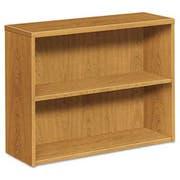 HON 10500 Series Laminate Bookcase, Two-Shelf, 36w x 13-1/8d x 29-5/8h, Harvest