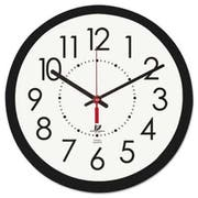 Chicago Lighthouse Electric Contemporary Clock, 14-1/2 inch, Black