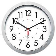 Chicago Lighthouse Quartz Flat Rim Clock, 14-1/2 inch, Silver