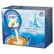 International Delight Flavored Liquid Non-Dairy Coffee Creamer, French Vanilla, .44oz Cup, 24/Box