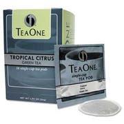 Tea One Tea Pods, Tropical Citrus Green, 14/Box