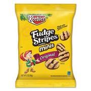 Keebler Mini Cookies, Fudge Stripes, 2oz Snack Pack, 8/Box