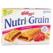 Kelloggs Nutri-Grain Cereal Bars, Raspberry, Indv Wrapped 1.3oz Bar, 16/Box