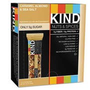 KIND Nuts and Spices Bar, Caramel Almond and Sea Salt, 1.4 oz Bar, 12/Box