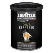 Lavazza Caffe Espresso Ground Coffee, Dark Roast, 8 oz Can