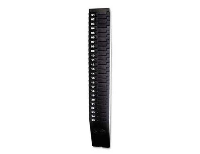 Lathem Time Expandable Time Card Rack, 25-Pocket, Holds 7 inch Cards, Plastic, Black