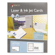 MACO Unruled Microperforated Laser/Ink Jet Index Cards, 3 x 5, White, 150/Box