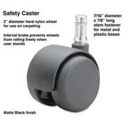 Master Caster Safety Casters, 100 lbs./Caster, Nylon, B Stem, Hard, 5/Set