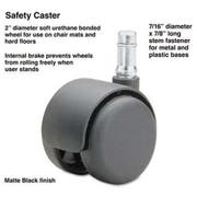 Master Caster Safety Casters, 100 lbs./Caster, Nylon, B Stem, Soft, 5/Set