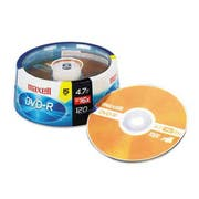 Maxell DVD-R Discs, 4.7GB, 16x, Spindle, Gold, 15/Pack