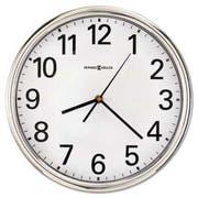 Howard Miller Hamilton Wall Clock, 12 inch, Silver, 1 AA