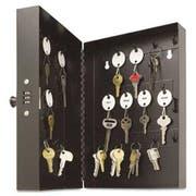 SteelMaster Hook-Style Key Cabinet, 28-Key, Steel, Black, 7-3/4 inchw x  3-1/4 inchd x 11-1/2 inchh