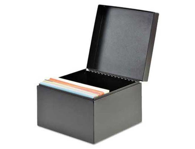 SteelMaster Index Card File Holds 625 5 x 8 cards, 8-9/16 x 5-3/16 x 5-7/8