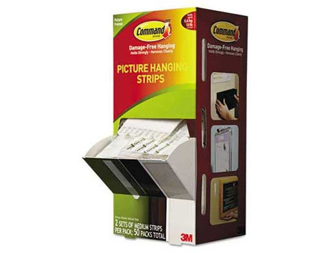 Command Picture Hanging Strips, 5/8 inch x 2 3/4 inch, White, 50/Carton