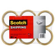 Scotch 3350 General Purpose Packaging Tape, 1.88 inch x 54.6yds, Clear, 6/Pack