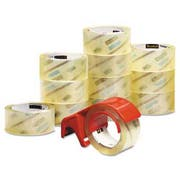 Scotch 3750 Commercial Performance Packaging Tape, 1.88 inch x 54.6yds, Clear, 12/Pack