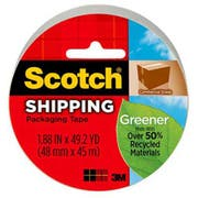 Scotch Greener Commercial Grade Packaging Tape, 1.88 inch x 49.2 yd, 3 inch Core