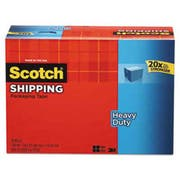 Scotch 3850 Heavy-Duty Packaging Tape Cabinet Pack, 1.88 inch x 54.6yds, 18/Pack