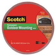 Scotch Exterior Weather-Resistant Double-Sided Tape, 1 inch x 450 inch, Gray w/Red Liner