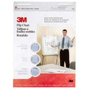3M Professional Flip Chart Pad, Unruled, 25 x 30, White, 40 Sheets, 2/Carton