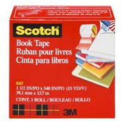 Scotch Book Repair Tape, 1 1/2 inch x 15yds, 3 inch Core