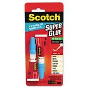 Scotch Single Use Super Glue, 1/2 Gram Tube, Gel, 2/Pack