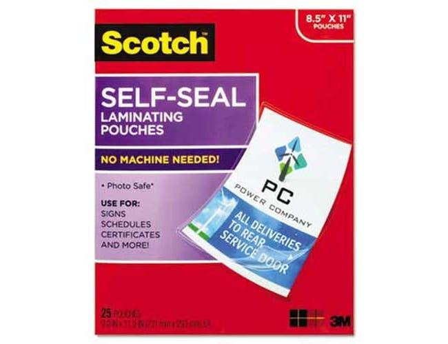 Scotch Self-Sealing Laminating Pouches, 9.5 mil, 8 1/2 x 11, 25/Pack