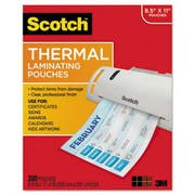 Scotch Letter Size Thermal Laminating Pouches, 3 mil, 11 2/5 x 8 9/10, 200 per Pack