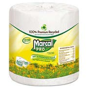 Marcal PRO 100% Recycled Bathroom Tissue, White, 240 Sheets/Roll, 48 Rolls/Carton