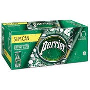 Perrier Sparkling Natural Mineral Water, 8 oz Can, 10/Pack, 3 Pack/Carton