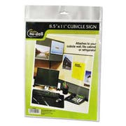 NuDell Clear Plastic Sign Holder, All-Purpose, 8 1/2 x 11