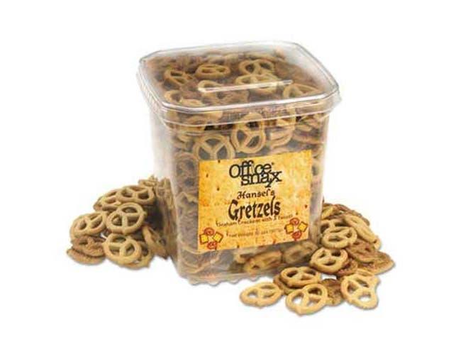 Office Snax Gretzels, Cinnamon/Honey, 32oz