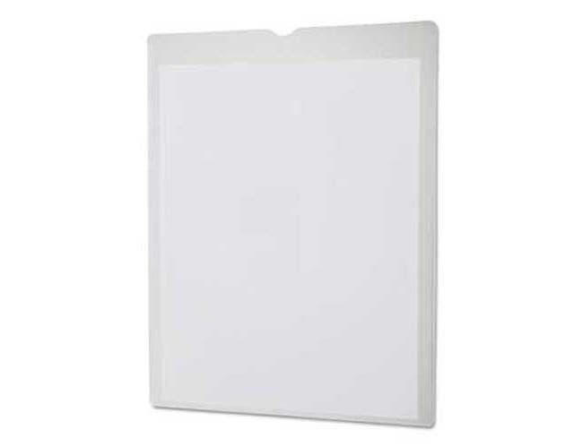 Oxford Utili-Jacs Heavy-Duty Clear Plastic Envelopes, 8 1/2 x 11, Letter, 50/Box