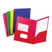 Oxford Fashion PolyPort Twin-Pocket Portfolio, Polypropylene, Assorted, 25/Box