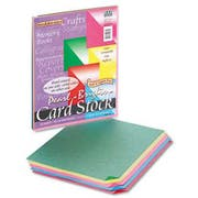 Pacon Reminiscence Card Stock, 65 lbs, Letter, Assorted Bright Pearl Colors, 50/Pack