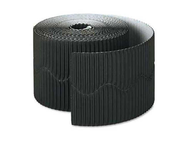 Pacon Bordette Decorative Border, 2 1/4 inch x 50 Roll, Black