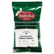 PapaNicholas Coffee Premium Coffee, Decaffeinated French Roast, 18/Carton