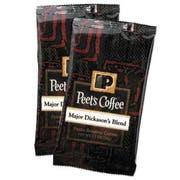 Peets Coffee and Tea Coffee Portion Packs, Major Dickasons Blend, 2.5 oz Frack Pack, 18/Box