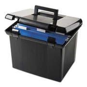 Pendaflex Portafile File Storage Box, Letter, Plastic, 11 x 14 x 11-1/8, Black