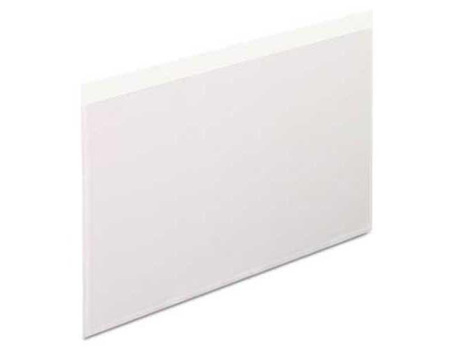 Pendaflex Self-Adhesive Vinyl Pockets, 5 x 8, Clear Front/White Backing, 100/Box