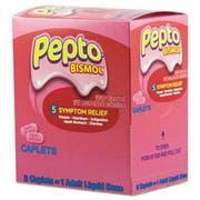 Pepto-Bismol Tablets, Two-Pack, 25 Packs/Box
