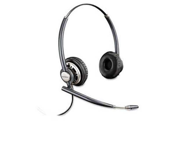 Plantronics EncorePro Premium Binaural Over-the-Head Headset w/Noise Canceling Microphone