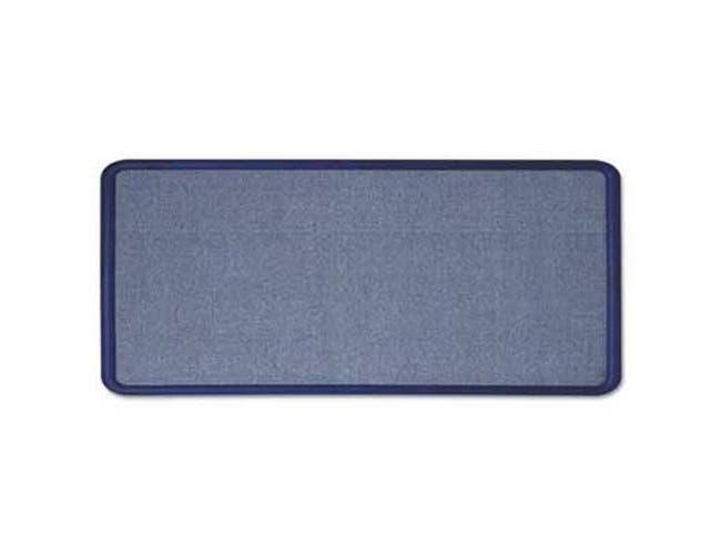 Quartet Contour Fabric Bulletin Board, 36 x 24, Light Blue, Plastic Navy Blue Frame