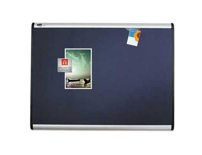Quartet Prestige Plus Magnetic Fabric Bulletin Board, 36 x 24, Aluminum Frame