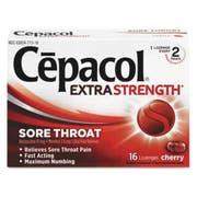 Cepacol Maximum Strength Numbing Lozenge, Cherry, 16/Box