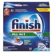 FINISH Powerball Dishwasher Tabs, Fresh Scent, 32/Box